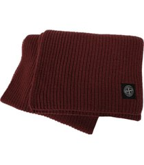 wool knit ribbed beanie hat