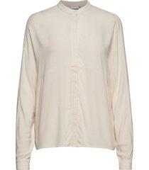 shirt w. cutline at body långärmad skjorta creme coster copenhagen