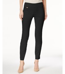 alfani petite curvy tummy-control pull-on skinny pants, created for macy's