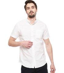 camisa brave soul blanco - calce regular