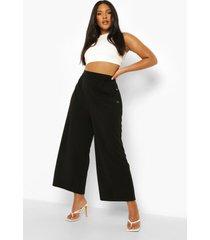 plus culotte broek met knopen, black