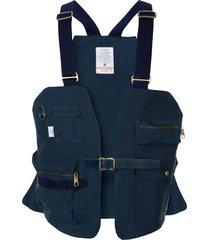 as2ov shrink camp vest - blue