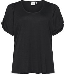 jrmaysin ss top - s t-shirts & tops short-sleeved svart junarose