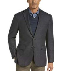 joseph abboud brown tic slim fit sport coat