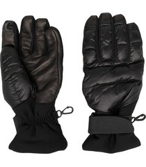 moncler grenoble padded winter gloves - black