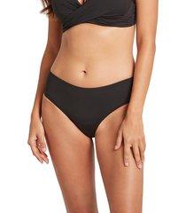women's sea level bikini bottoms, size 12 us - black