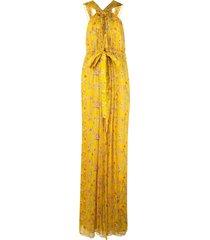 alexis floral print jumpsuit - yellow