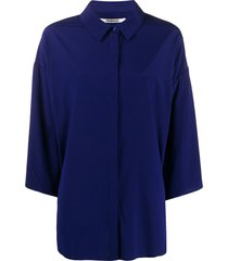 chalayan oversized batwing-sleeve shirt - blue
