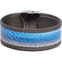 cynthia desser ombre washed leather bracelet in pewter/indigo/ice blue at nordstrom