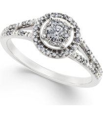 diamond promise ring in 10k white gold ( 1/4 ct. t.w.)