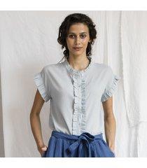camicetta con volants - collezione donna  -