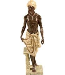 escultura decorativa de resina indiano kamal