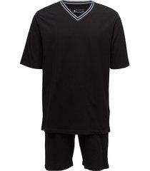 jbs pajamas, t-shirt-shorts pyjamas svart jbs
