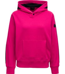 moncler pink cotton hoodie with logo