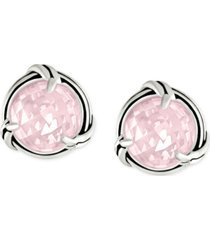 peter thomas roth rose quartz stud earrings (4-1/2 ct. t.w.) in sterling silver