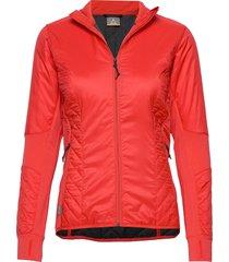 wmns helix ls zip outerwear sport jackets röd icebreaker