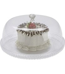 mind reader diamond acrylic cake holder with cover, cake display, dessert display