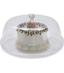 mind reader diamond acrylic cake holder with cover, cake display, dessert display