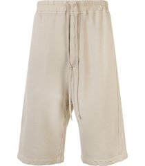 rick owens drkshdw loose track shorts - neutrals