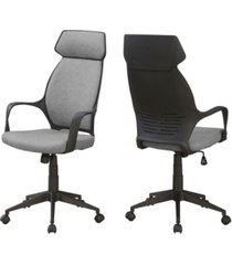 monarch specialties office chair -microfiber, high back executive