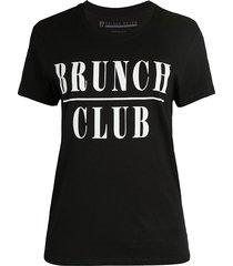 prince peter collection women's brunch club cotton t-shirt - black - size m