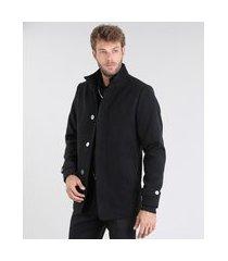 jaqueta masculina com bolsos preta