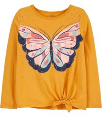 carter's big girl butterfly tie-front jersey tee