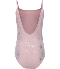 body tiras con estampado estrellas color rosado, talla 12