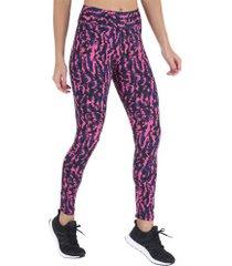 calça legging oxer pagg - feminina - rosa/azul esc
