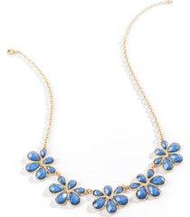 willow facet statement necklace - indigo