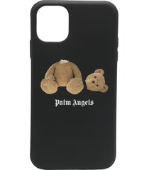 palm angels bear iphone 11 case - black