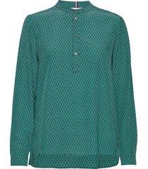 dion p-over blouse ls blouse lange mouwen groen tommy hilfiger