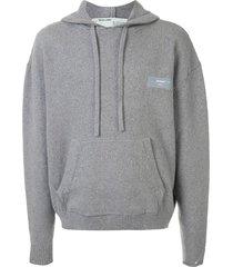 off-white embossed arrows hoodie - grey