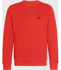 polerón calvin klein jeans rojo - calce regular
