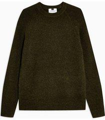 mens khaki jungle raglan sweater