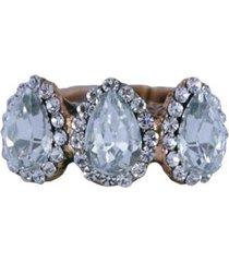 anel armazem rr bijoux mini gotas cristal feminino
