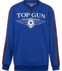 sweatshirt top gun blauw::rood