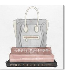 "oliver gal my fancy purse and books canvas art - 43"" x 43"" x 1.5"""