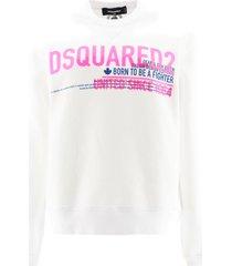 dsquared2 neon logo sweatshirt