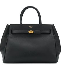 mulberry small belted bayswater tote - black