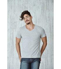camiseta especial especial quest color gris jaspe claro