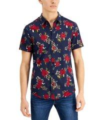 floral-print slim shirt