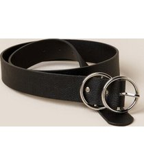 trisha double circle belt - black