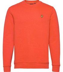ripstop panel sweatshirt sweat-shirt trui oranje lyle & scott