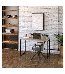 mesa de escritório kuadra carvalho 120 cm