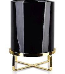 kwietnik metalowy osłonka ceramiczna negro 33 cm