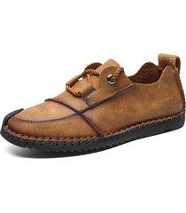 scarpe da uomo in pelle casual con suola morbida antiscivolo