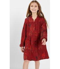 short shirt dress lyocell girl - red - 7/8