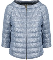 herno mesh and sequins down jacket