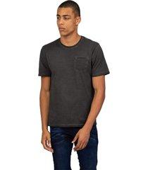 camiseta masculina com bolso preto - preto - masculino - dafiti